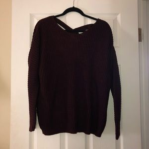 Criss-Cross Back Sweater - Maroon
